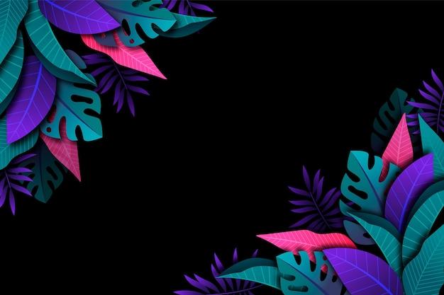勾配熱帯の葉の背景