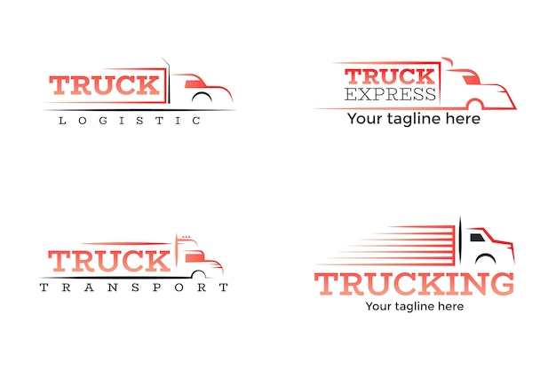 Gradient truck logo collection