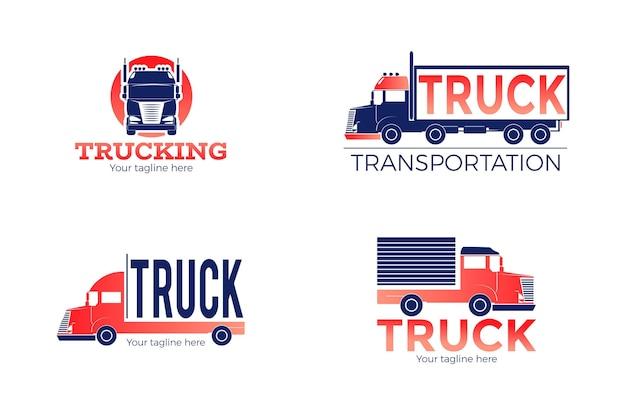 Коллекция логотипов градиентных грузовиков