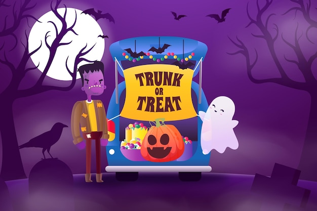 Gradient trunk or treat background