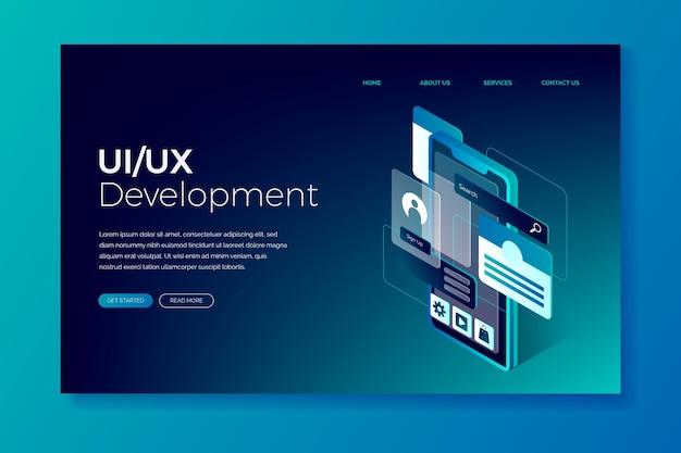 Gradient ui/ux landing page