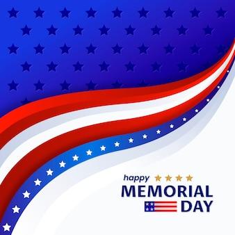 グラデーションアメリカ記念日のイラスト