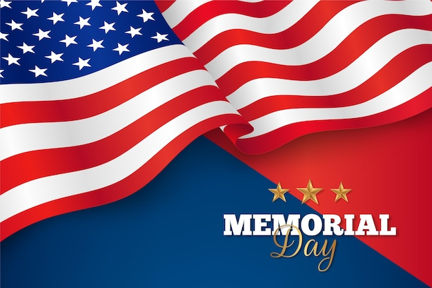 Gradient usa memorial day illustration