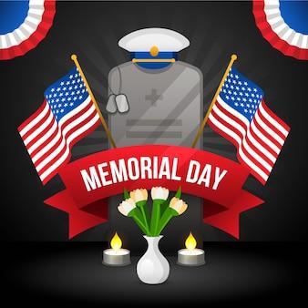 Gradiente usa memorial day illustrazione