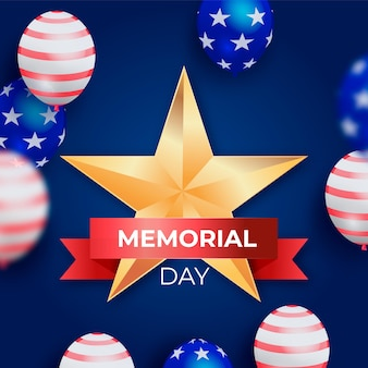 Gradiente usa memorial day illustrazione