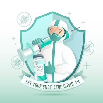 図解された勾配ワクチン接種キャンペーン