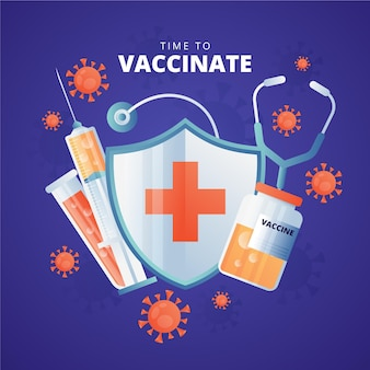 Gradient vaccination campaign illustration