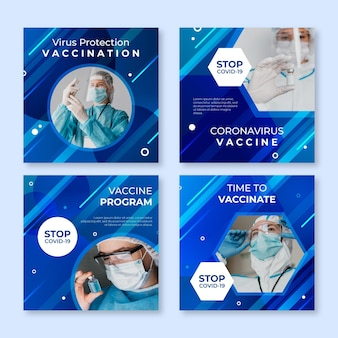 사진과 함께 그라디언트 백신 인스 타 그램 포스트 컬렉션