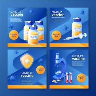 Коллекция постов в instagram с градиентной вакциной
