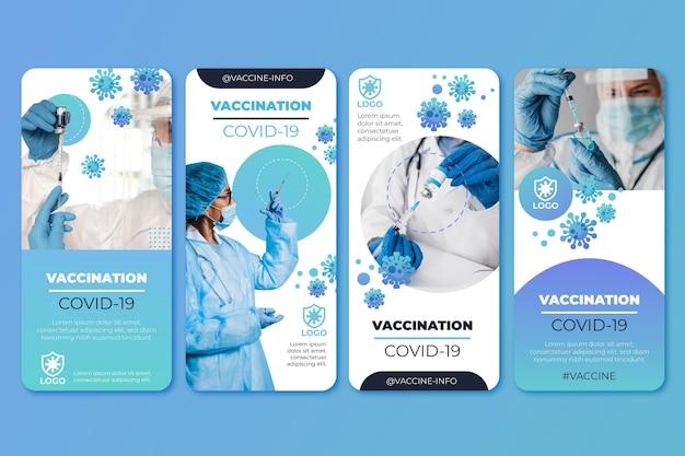 写真付きグラデーションワクチンinstagramストーリーコレクション
