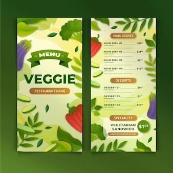 Menu vegetariano sfumato