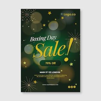 그라데이션 세로 박싱 데이 판매 포스터 템플릿