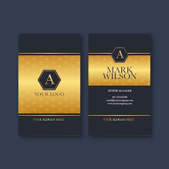 Gradient vertical business card template