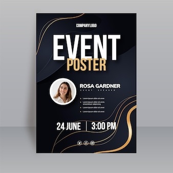 Gradient vertical poster template