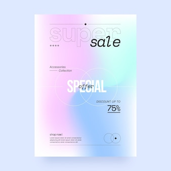 그라데이션 세로 판매 포스터 템플릿