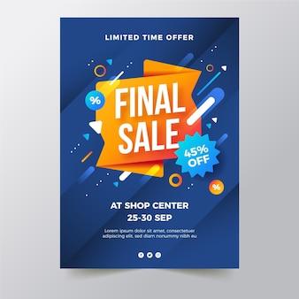 Gradient vertical sale poster template