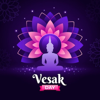 Gradient vesak day illustration