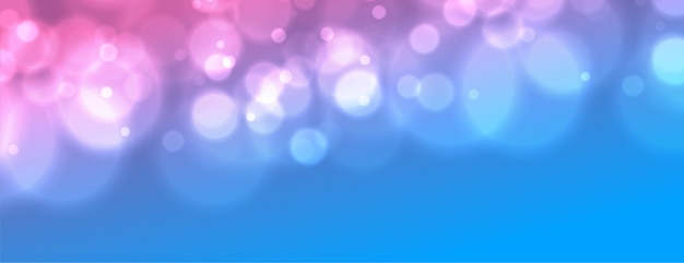 Gradient vibrant banner with bokeh blurred light effect