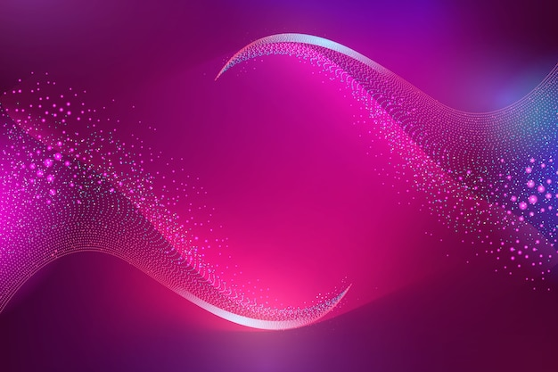 Gradient violet glowing particles background