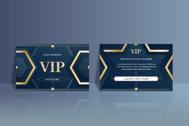 Gradient vip card with gold details