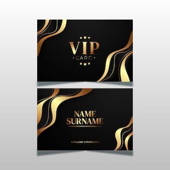 金色の要素を持つグラデーションvipカード
