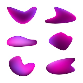 Gradient vivid shapes