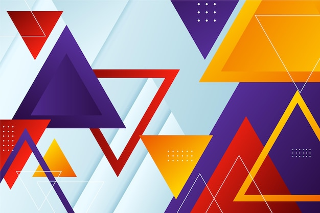 Gradient wallpaper with different colorful shapes
