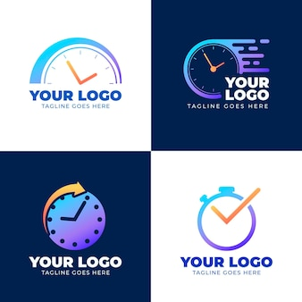 Gradient watch logos pack