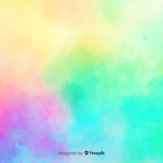Gradient watercolor stain background