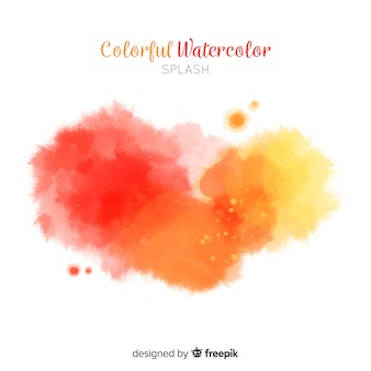 Gradient watercolor stains background