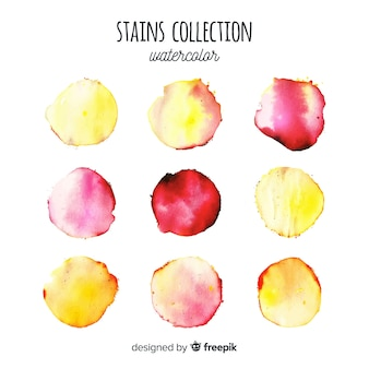 Gradient watercolor stains collection