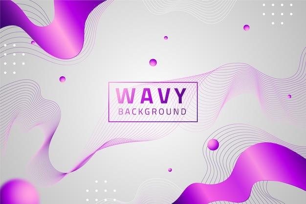 Gradient wavy background