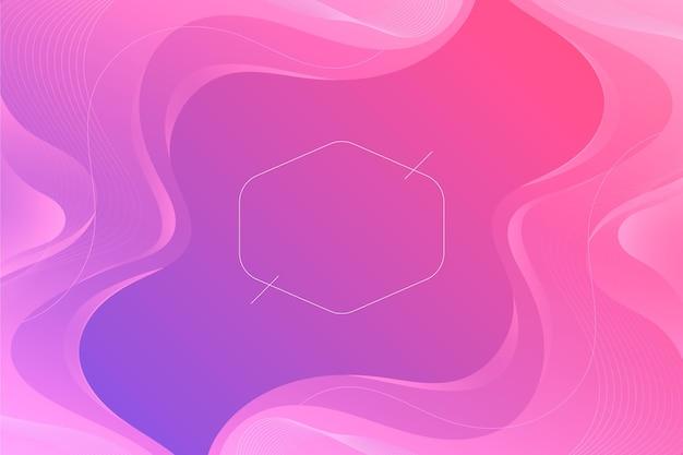 Градиент волнистый розовый фон