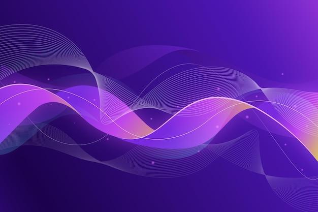 Gradient wavy purple background