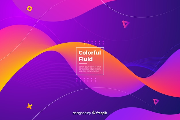 Gradient wavy shapes background