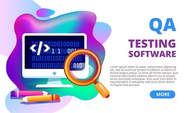 Gradient wavy shapes quality assurance banner