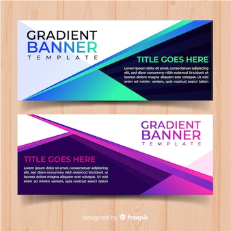 Gradient web banners