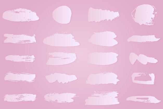 Gradient white ink brush strokes collection