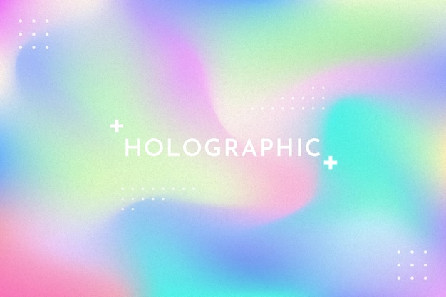 Gradient with grain holographic banner background