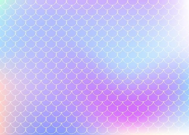ホログラフィックスケールのグラデーション。明るい色の変化。