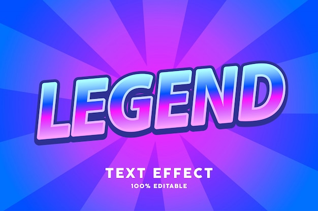 Gradient with zoom style text effect