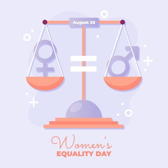 Gradient women's equality day illustration