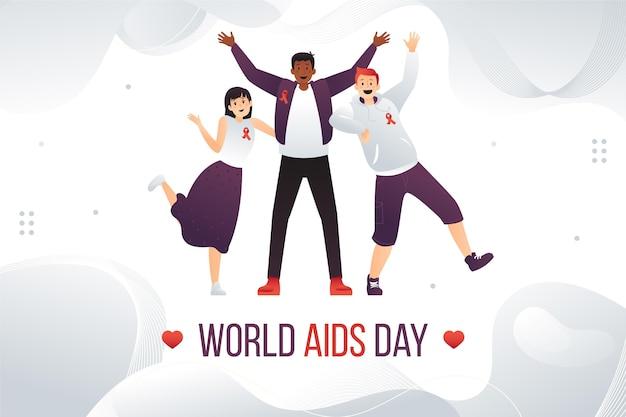 Gradient world aids day background