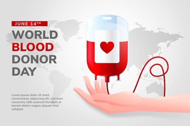 Gradient world blood donor day illustration Premium Vector