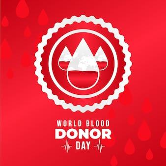 그라디언트 세계 헌혈자의 날 그림