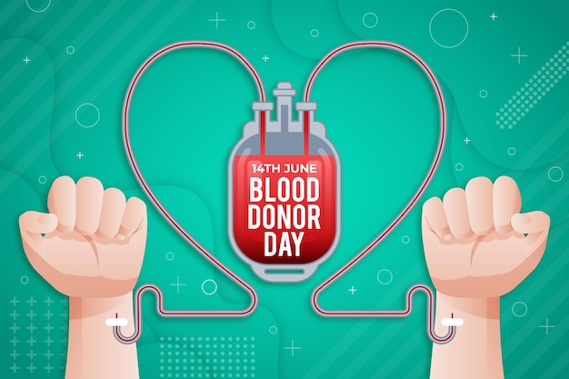 Gradient world blood donor day illustration