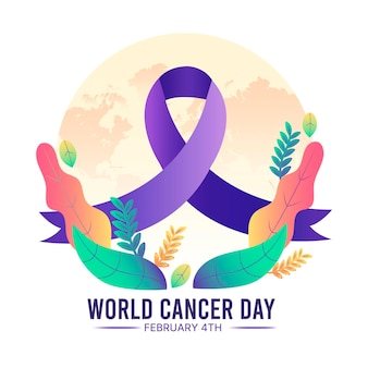 그라디언트 세계 암의 날 배경