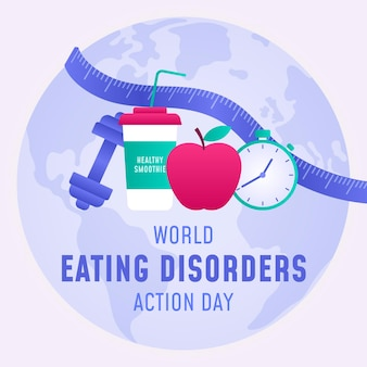 Gradient world eating disorders action day illustration