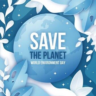그라디언트 세계 환경의 날 그림