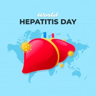 Illustrazione di giornata mondiale dell'epatite gradiente